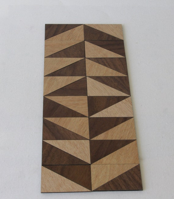 Triangle Diamond Tree Pattern Wooden Trivet Table Mat