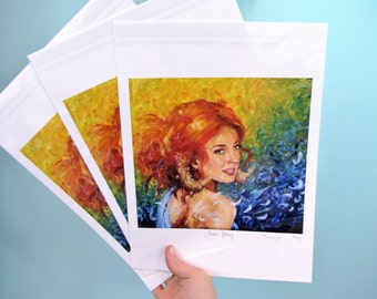 Red Haired Romantic Fantasy Print - Eidionyn