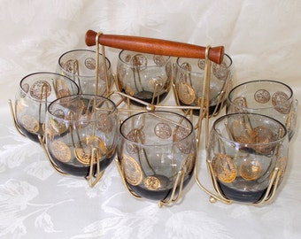Vintage Roly Poly Tumbler Set With Carrier