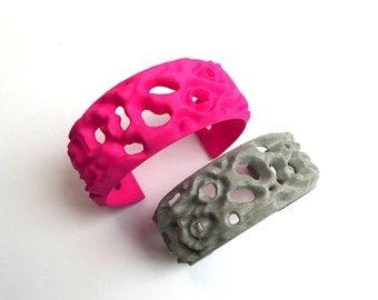 Osmosis Cuff Bracelet-Science Chemistry Biochemistry Jewelry in laser sintered nylon plastic