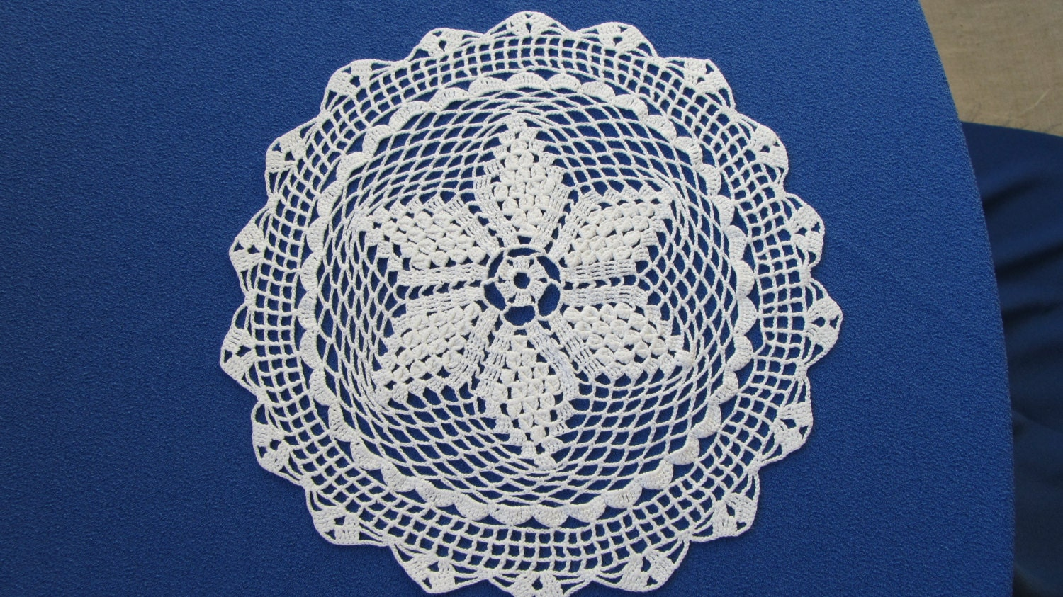 Crochet cotton lace, Crochet lace napkin, Cotton USSR napkin, Cotton lace doilie