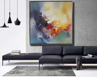 Abstract oil painting-Modern Original oil painting on canvas-#134
