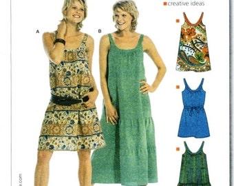 Burda Pattern 8076 Easy summer dress loose fitting multi-size 6-18 UNCUT