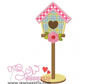 Bird House-1 Applique Design.