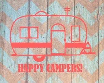 Camping Decal; Happy Camper; Camping Decor; Camping Signs; Camper Decor; Camper Sign; Camper Decal; Personalized Camper RV