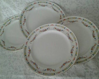 Vintage Bourne & Leigh 4 Dinner Plates Mentone Pattern