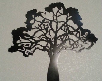 Metal tree - black tree - Metal Art - Home Decor -