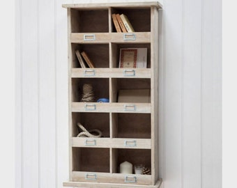 Chedworth Tall Wooden Shelf Unit. Great storage for your kitchen or bathroom. ZTWU02