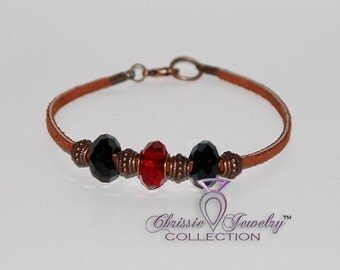 Red & Black LexDan Charm Bracelet