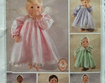 "Sewing Pattern McCalls 2610 Doll Clothes Dress Pantaloons 10-12"" 14-16"" 18-20"" uncut"