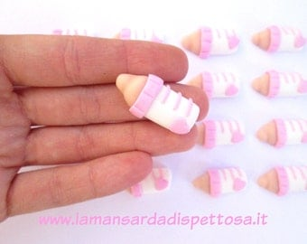 Application bottle polymer clay candy for birth or baptism