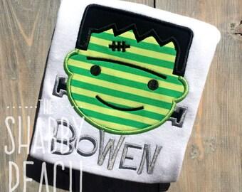 Frankenstein Onesie or Shirt, Boy's Halloween Shirt, Halloween Applique