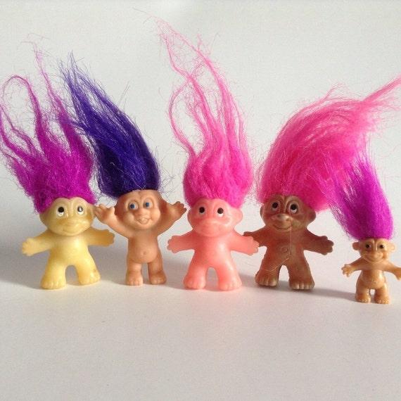 Vintage Troll Dolls Collectible Trolls Dam Trolls Russ Mini