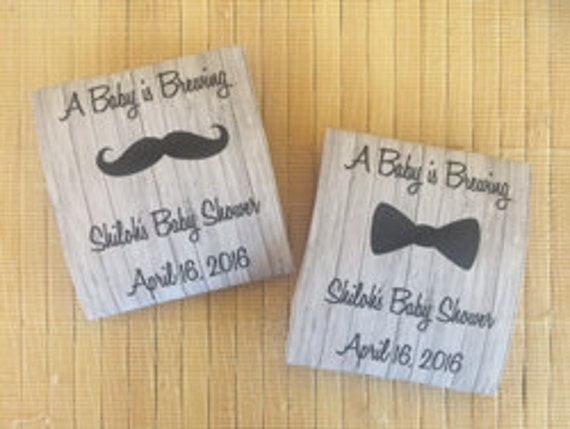 40 Personalized Tea Packets, baby shower tea favors, baby shower tea party favors, bowtie baby shower favors, mustache baby shower favors