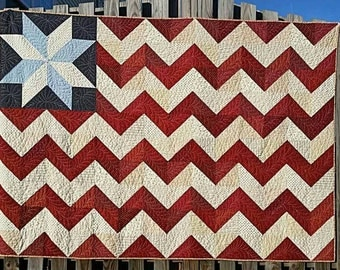 Made to Order Cheveron Flag Quilt 60x82