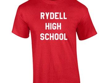 Rydell High School T-Shirt Danny Zuko Grease T-Shirt New