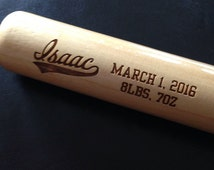 "Personalized Baseball Bat - 18"" Mini Baseball Bat - Engraved Baseball Bat - Groomsmen Gift, Gift for Boy, Personalized Gift for Baseball Fan"