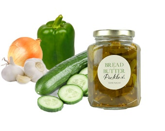 Gourmet Bread and Butter Pickles // All Natural // New Hampshire Home Grown // 12oz