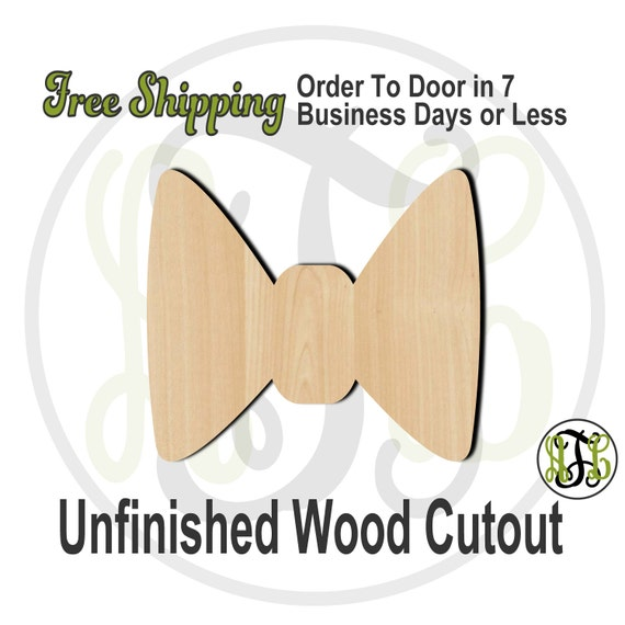 Bow Tie - 10002- Cutout, unfinished, wood cutout, wood craft, laser cut shape, wood cut out, Door Hanger, wooden, wreath accent
