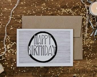 """Birthday 4""""x6"""" Greeting Card - Happy Birthday"""