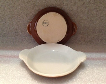2 Hall Round Au Gratin Baking Dishes  Brown