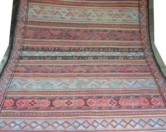 10 by 5 Ft Antique Soumak Qalaty Pattern Tribal Area Rug
