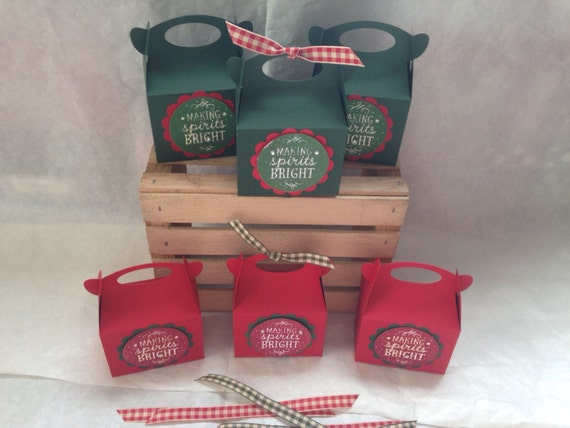 Just 6 Christmas Gable Box Treat/Candy Holder by ...
