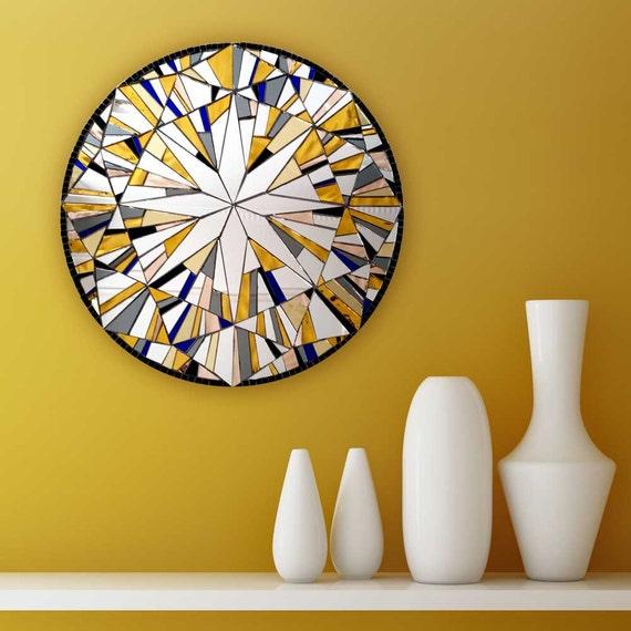 Yellow Wall Decor Round Wall Art Modern Yellow Decor