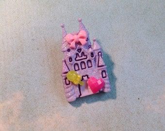 Kawaii castle broach pin Pastel magical girl sparkle