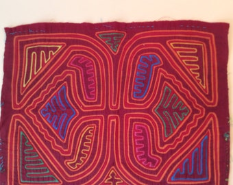 Mola, handmade, authentic, vintage, 1960's