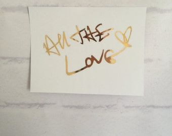 ONE DIRECTION Foil Art - All The Love in Harry Styles's handwriting