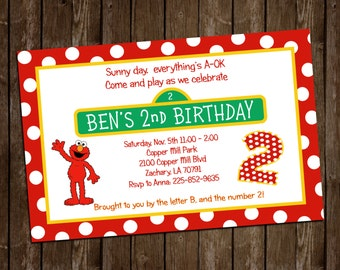 Elmo Birthday Party Invitation