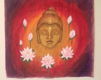 Buddha Newspaper Art