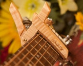 Maple ~ Wooden Guitar Capo ~ Adjustable Tension ~ WoodenK ~ (Acoustic, Electric, Classical, Banjo & Ukulele)