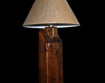 Reclaimed Pine Barn Beam Lamps