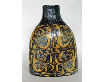 Faience BACA Vase, Nils Thorsson, Royal Copenhagen, Denmark. 1970's, Scandinavian Art Pottery. 714/3223