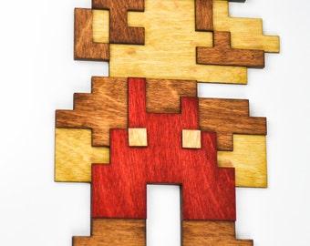 Laser cut Mario wall art