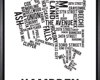 Hampden Baltimore Neighborhood Street Print