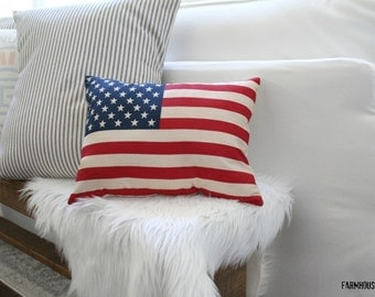American Flag Pillow (Insert Not Included)