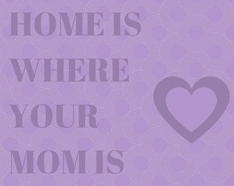 Home is Where Your Mom Is Mother's Day Card - Purple