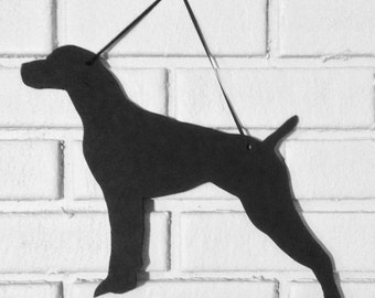 German Short Haired Pointer Handmade ChalkboardWall Hanging - Dog Shadow Silhouette - Country Decoration - Great Gift