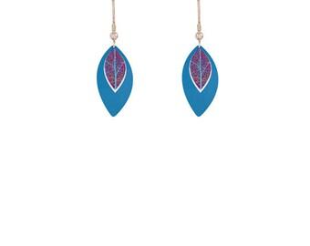 Leaf Blue Earrings/Jewelry/Fashion Jewellery/Jewelry sets