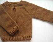 Hand Knit Baby Sweater, Baby Girl Sweater, Handmade Children Clothing, Crochet Sweater, Baby Knitted Sweater, Handmade Children Clothing
