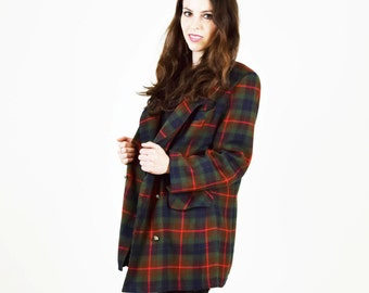 Tartan JACKET, plaid jacket, Checked jacket, tartan coat, plaid coat, wool, womens jacket, grandma jacket, hipster jacket, Scottish, Irish