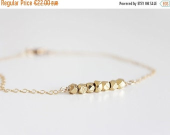 ON SALE YOU And I | Bracelet 14 k gold faceted square beads