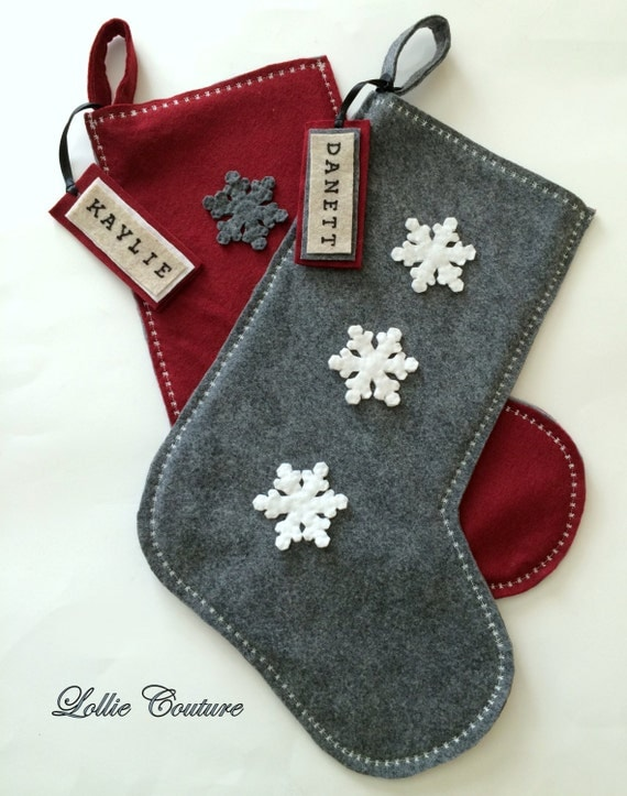 Items Similar To Classic Modern Wool Felt Christmas