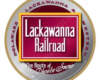 Lackawanna Railroad Logo Wood Plaque / Sign