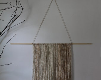 Yarn & Wood Wall Hanging