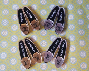 Designer Inspired Loafers Laser Cut Cabochon