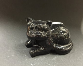 Student Painted Small Black Cat